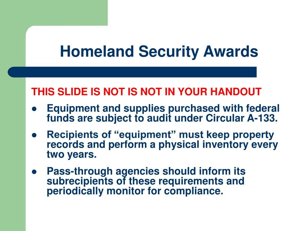 Homeland Security Awards