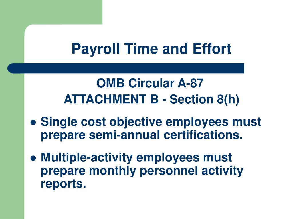 Payroll Time and Effort