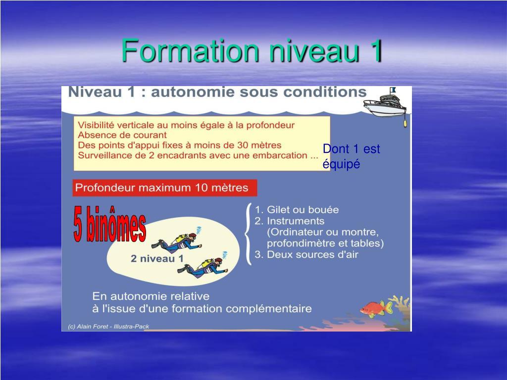 Formation niveau 1