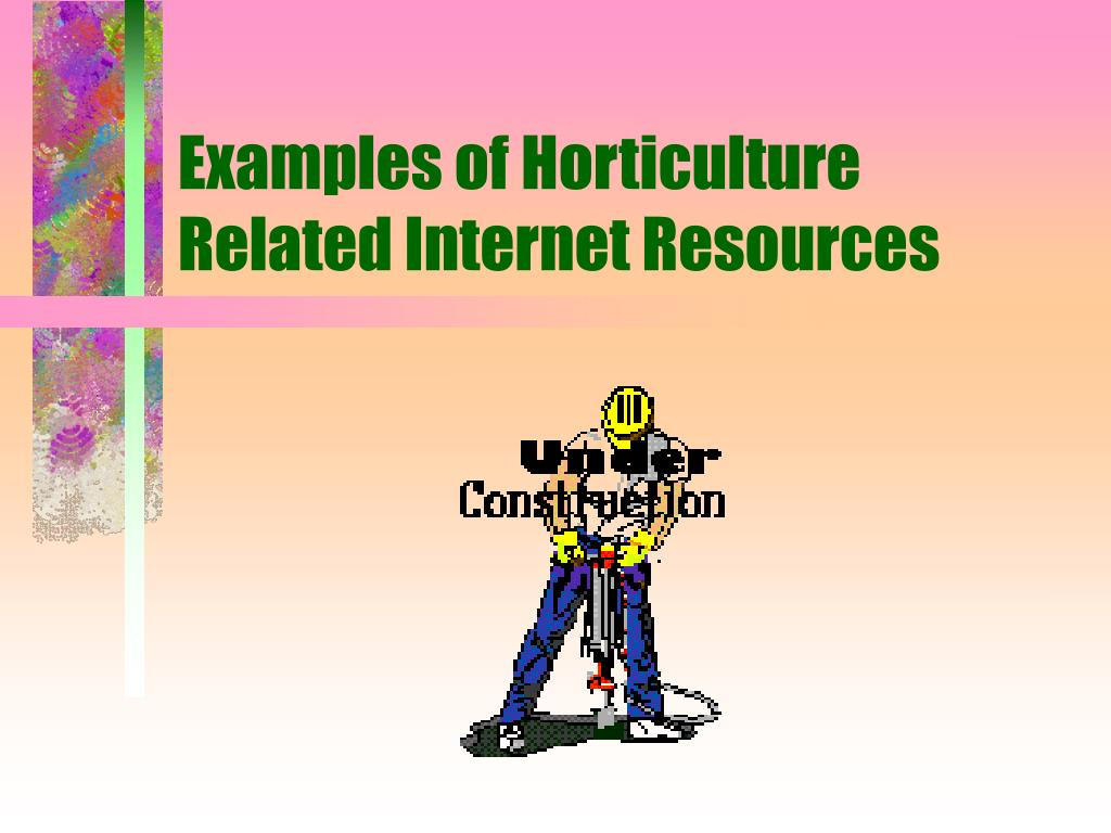 Examples of Horticulture Related Internet Resources