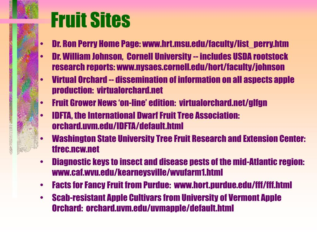 Fruit Sites