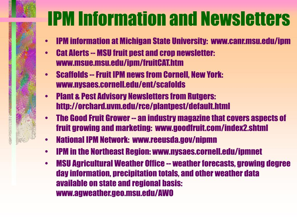 IPM Information and Newsletters