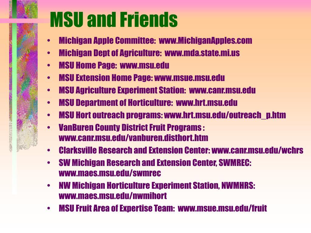 MSU and Friends