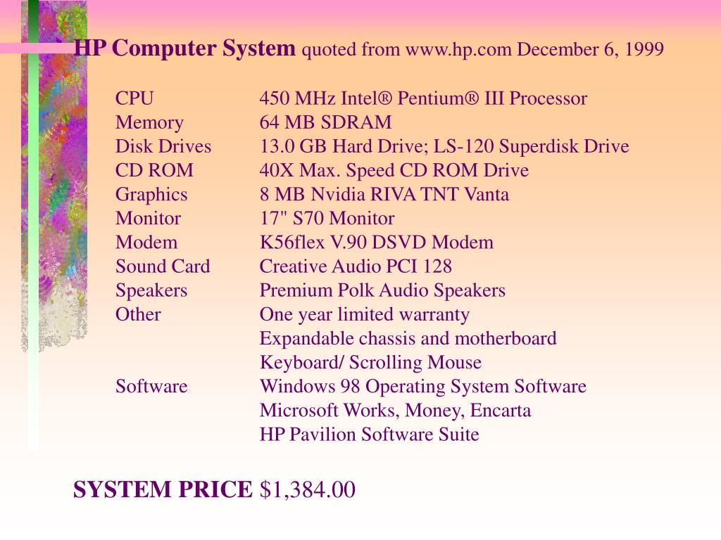 HP Computer System