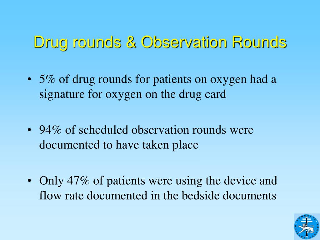 Drug rounds & Observation Rounds