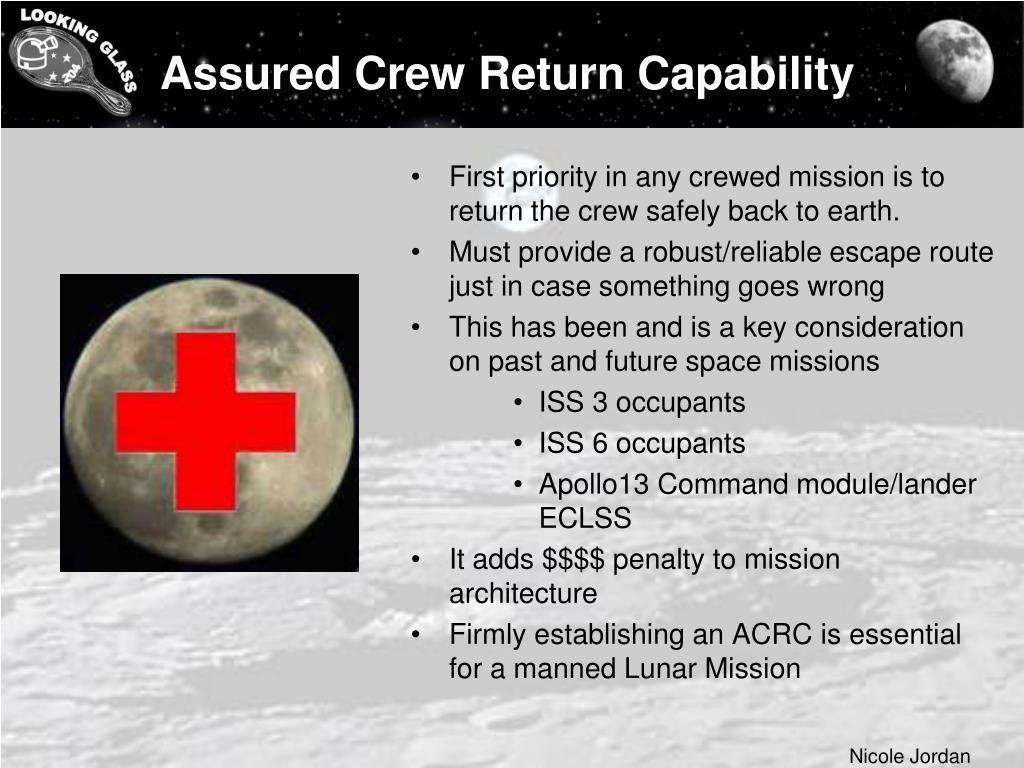 Assured Crew Return Capability