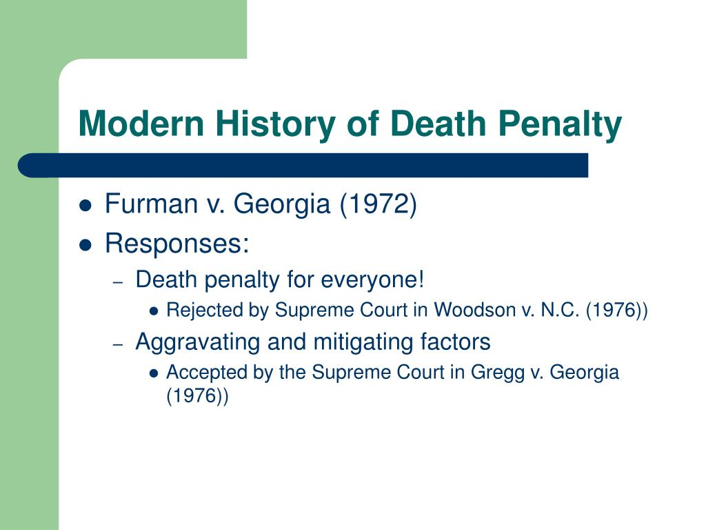 Modern History of Death Penalty