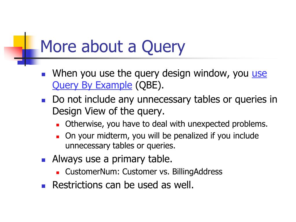 More about a Query