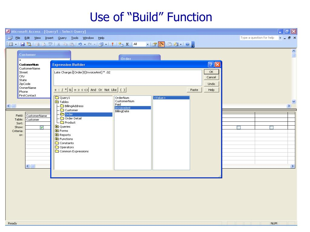 """Use of """"Build"""" Function"""