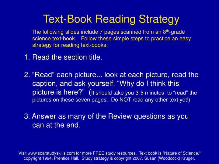 Text-Book Reading Strategy