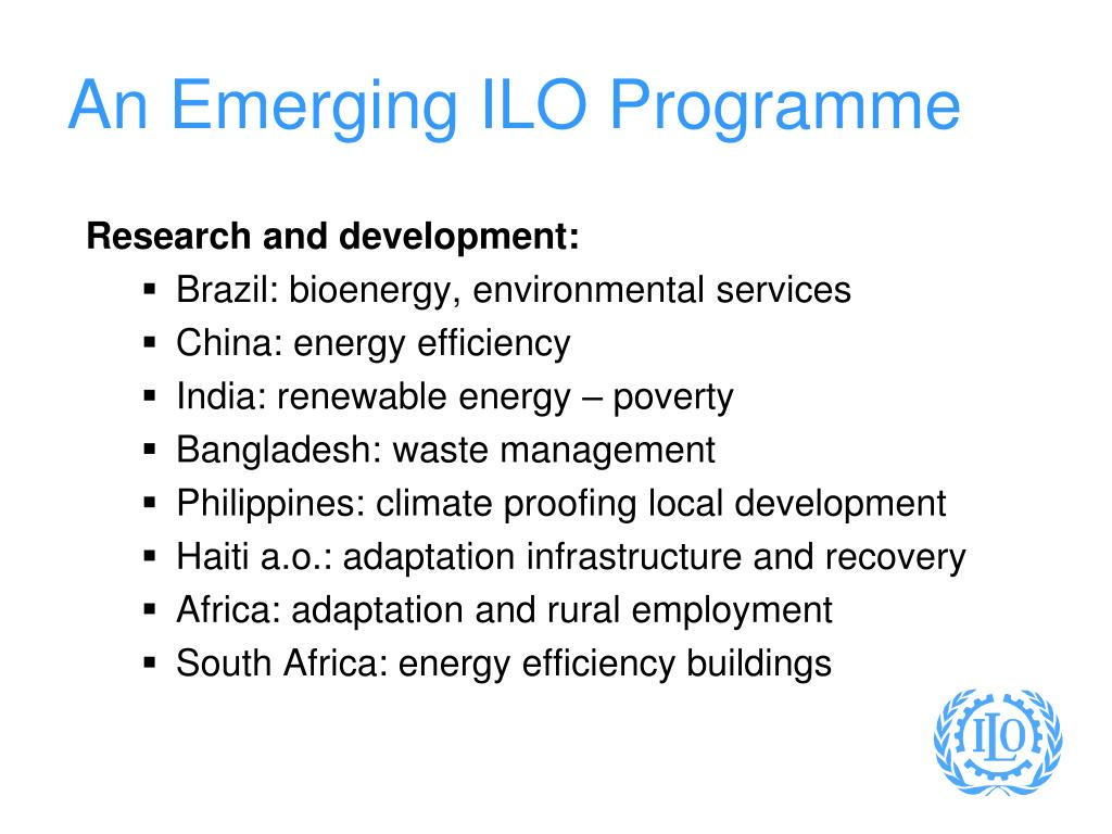An Emerging ILO Programme
