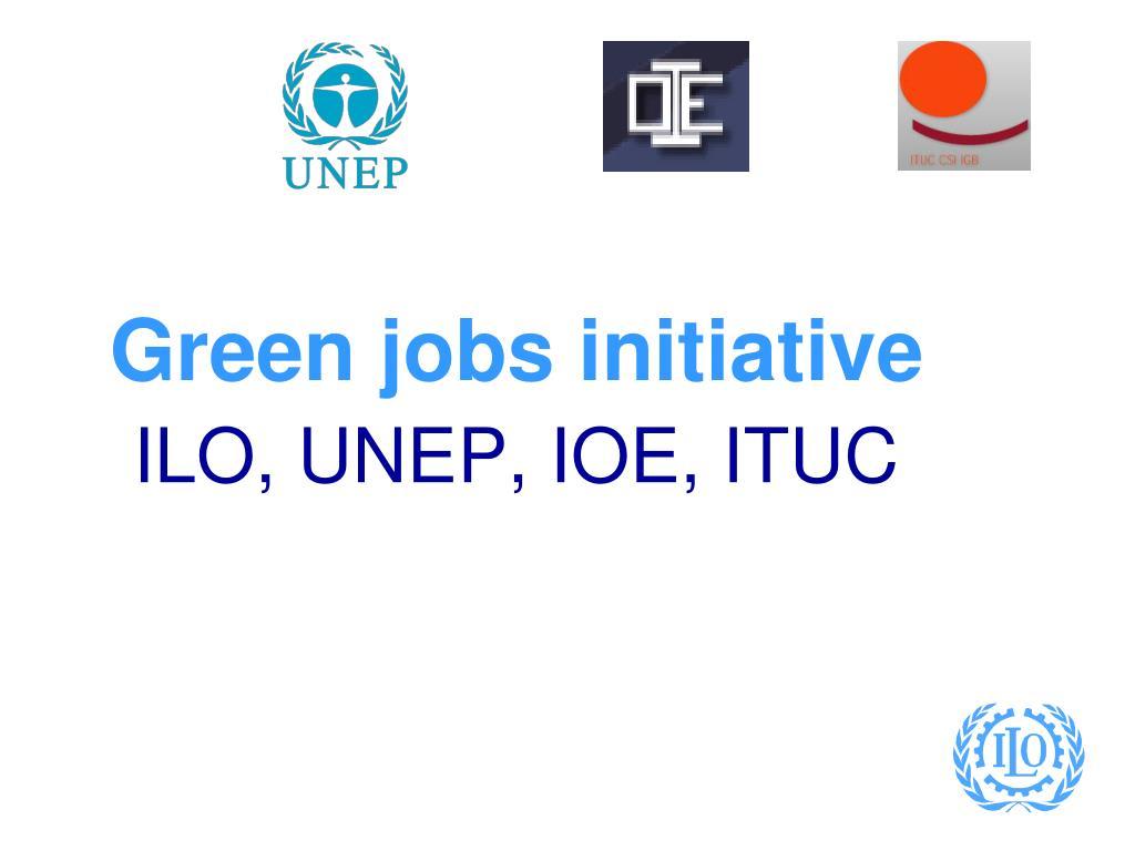 Green jobs initiative