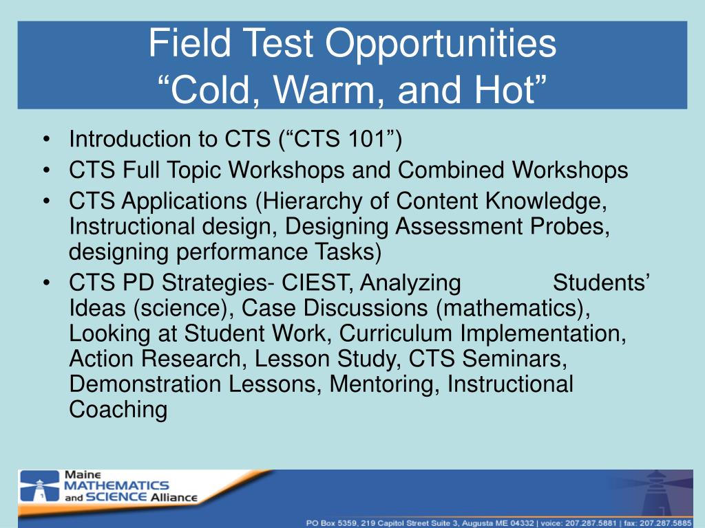 Field Test Opportunities