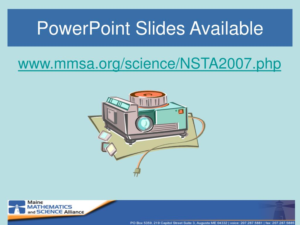 PowerPoint Slides Available