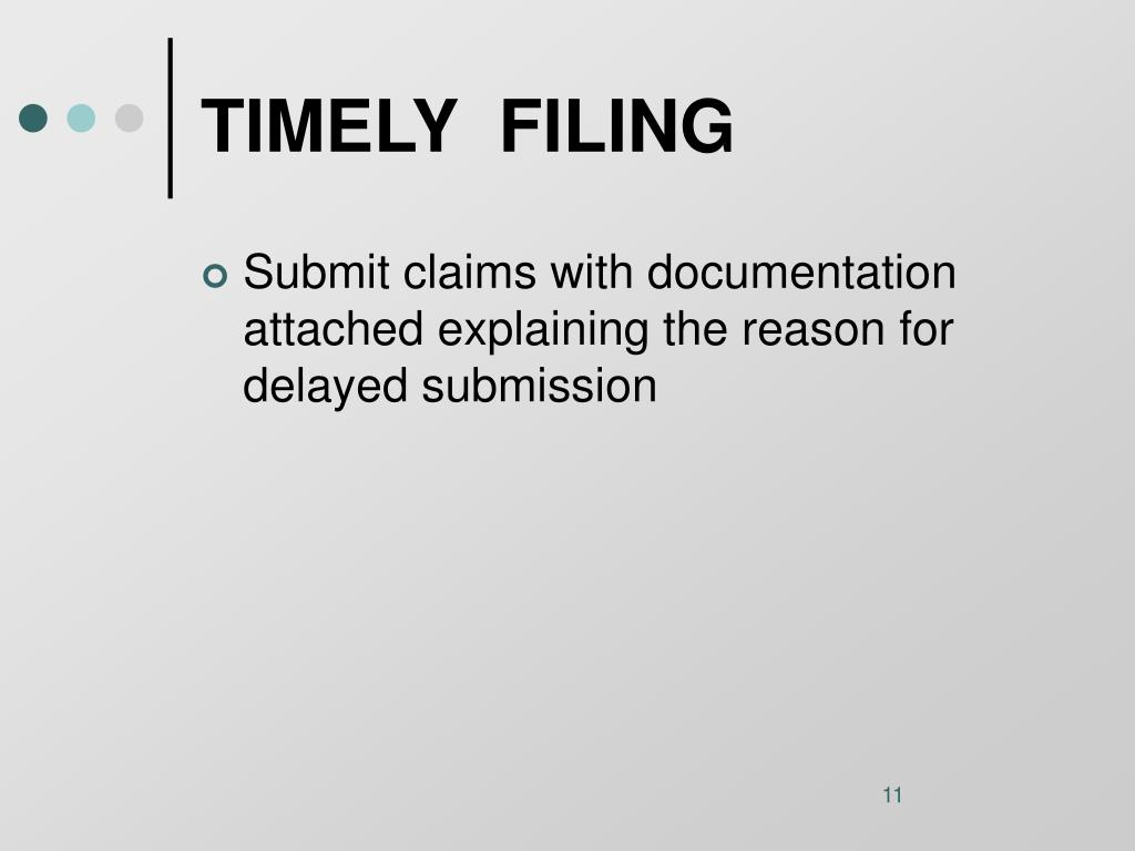 TIMELY  FILING