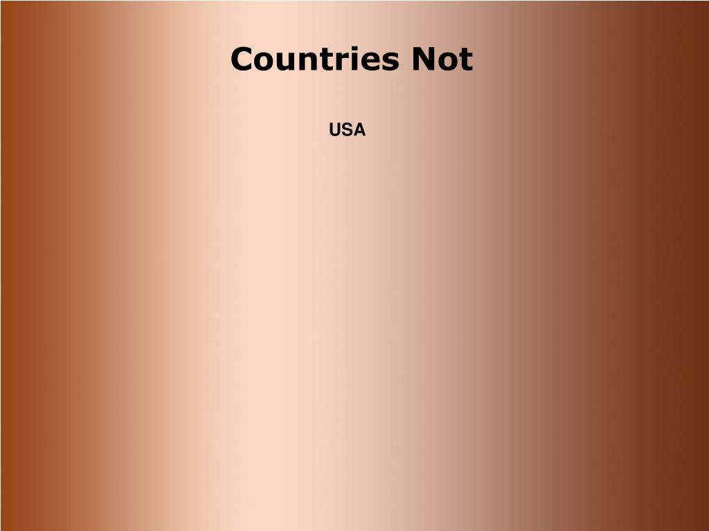 Countries Not