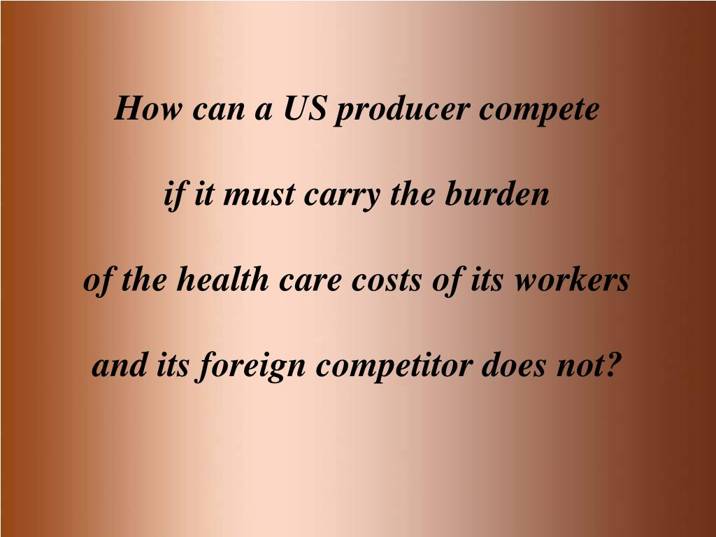 How can a US producer compete