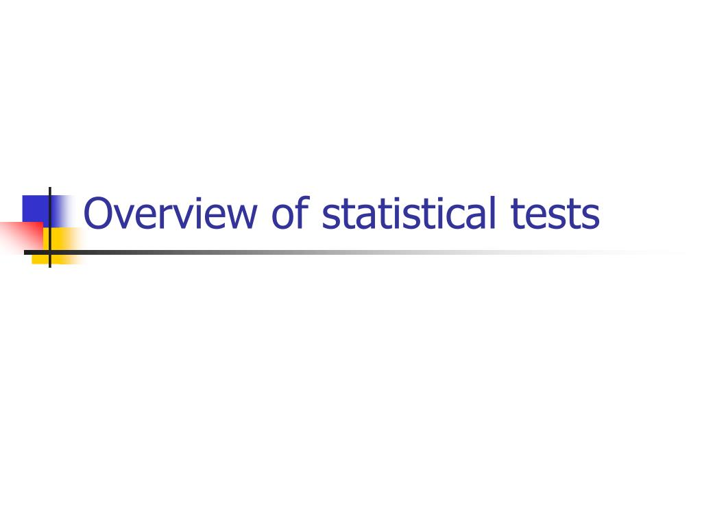 Overview of statistical tests