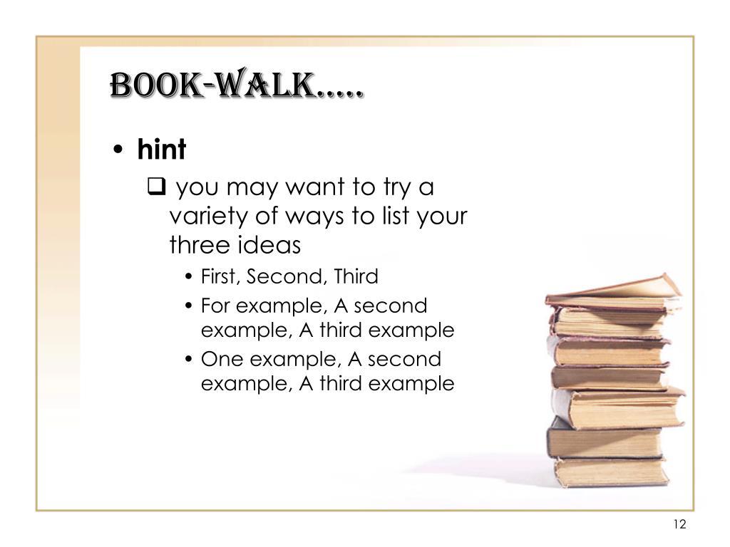 Book-Walk…..