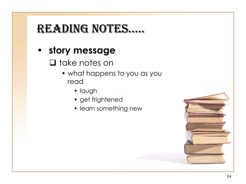 Reading Notes…..
