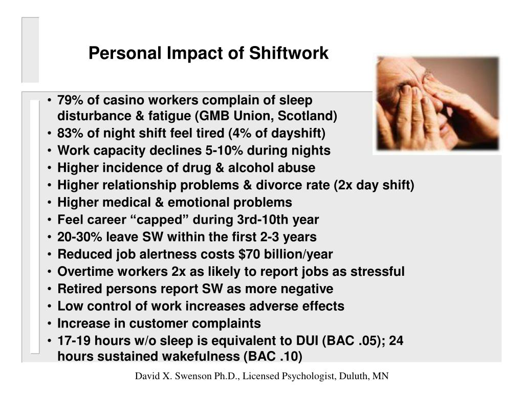 Personal Impact of Shiftwork