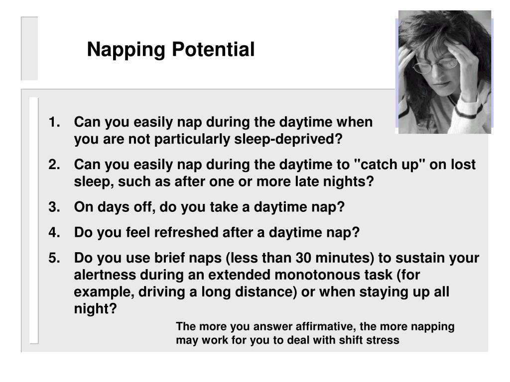 Napping Potential