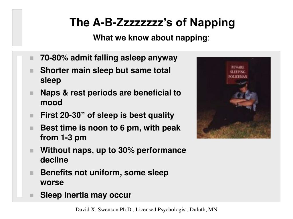 The A-B-Zzzzzzzz's of Napping