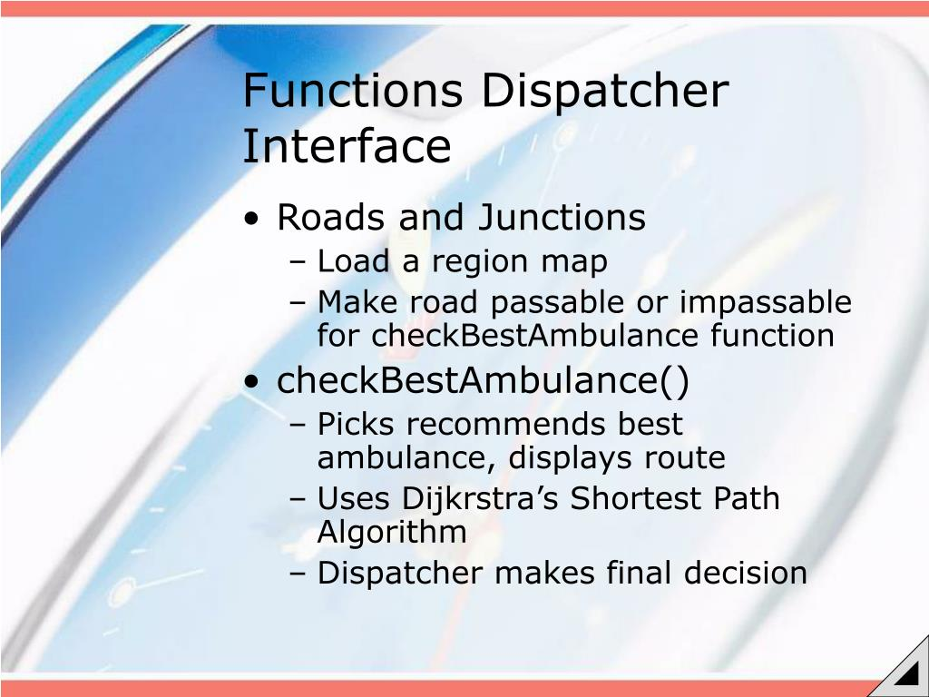 Functions Dispatcher Interface