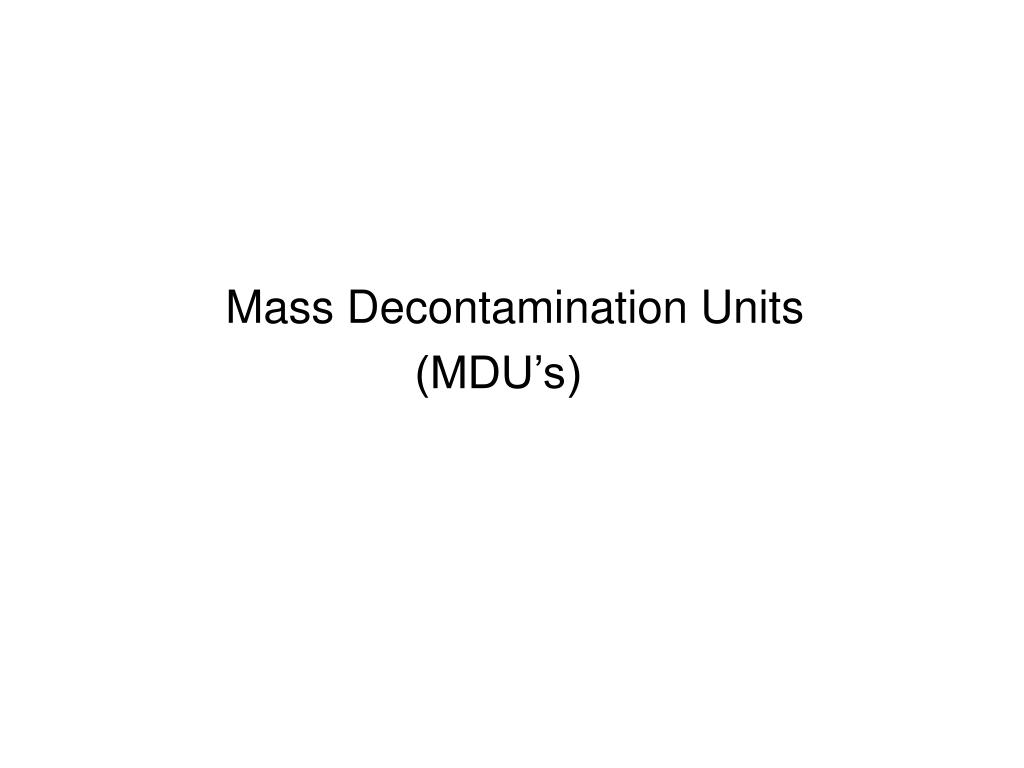 Mass Decontamination Units