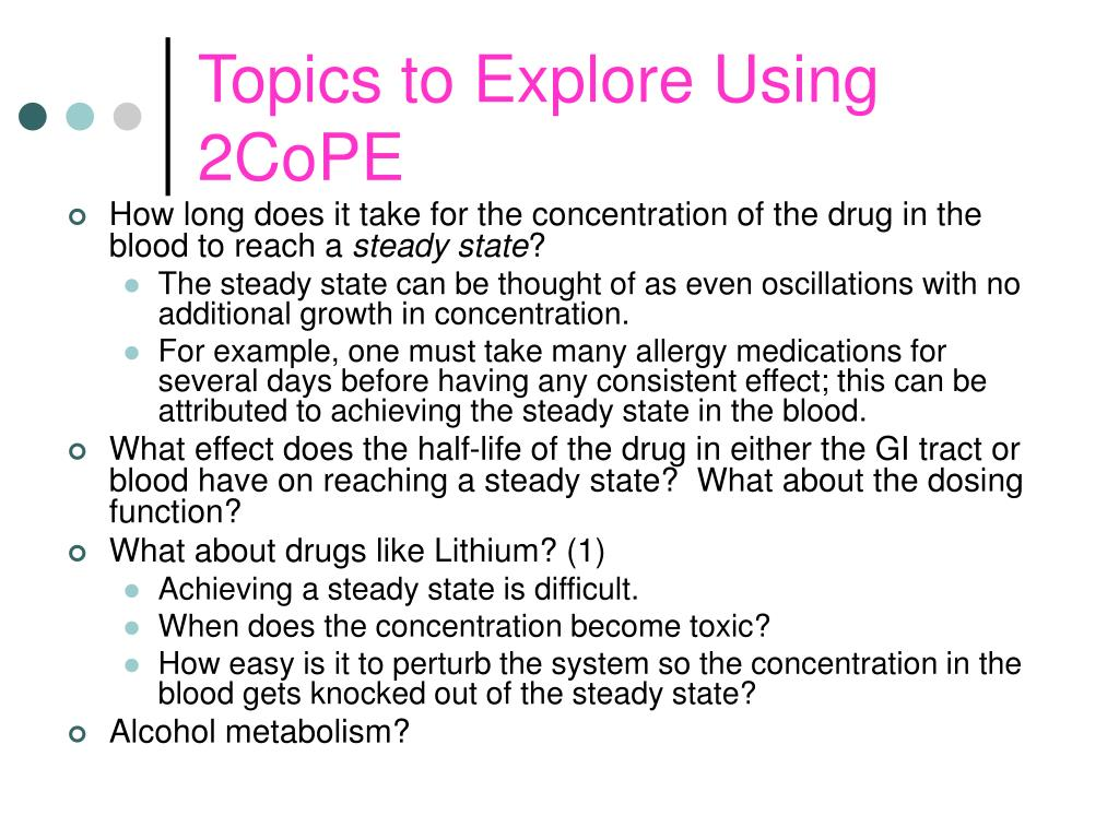 Topics to Explore Using 2CoPE