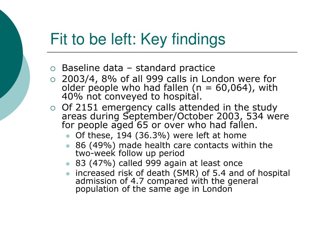 Fit to be left: Key findings