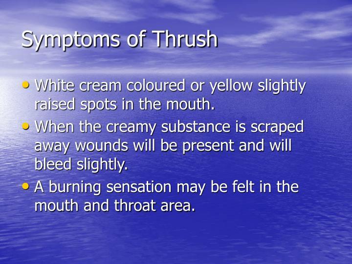 Symptoms of Thrush