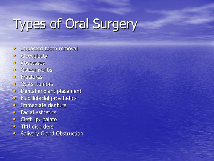 Types of Oral Surgery