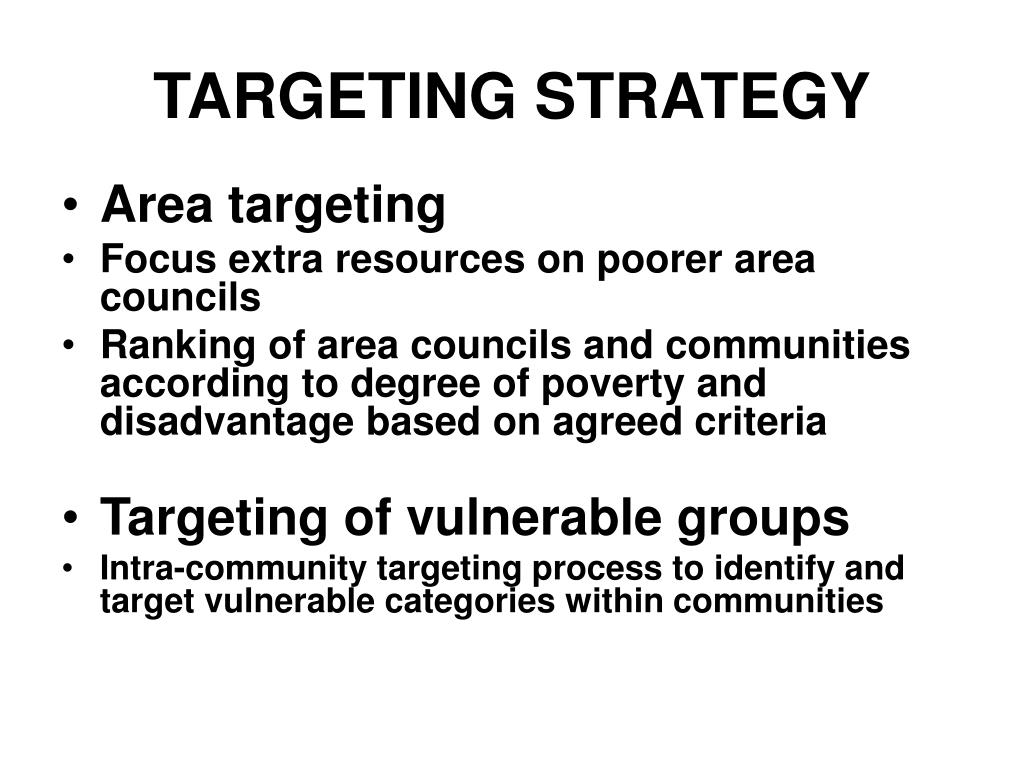 TARGETING STRATEGY