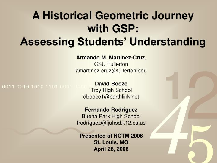 A historical geometric journey with gsp assessing students understanding l.jpg