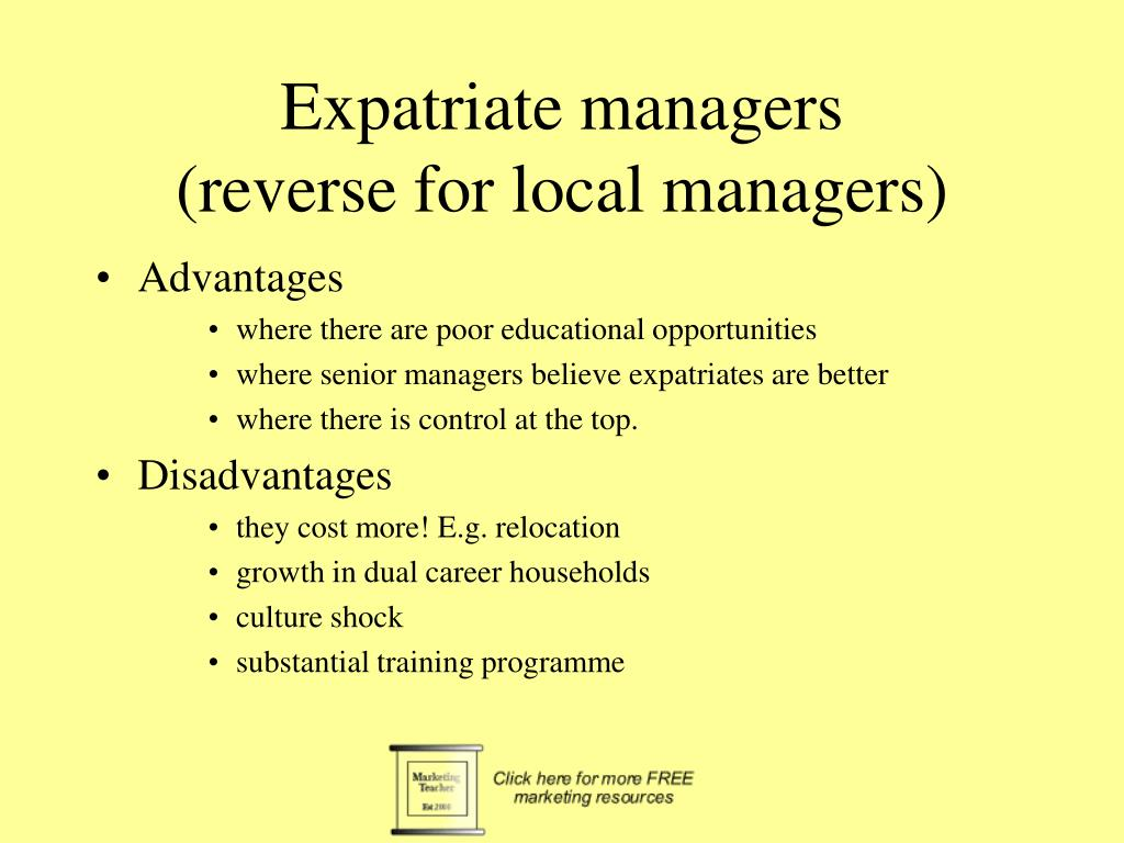 Expatriate managers