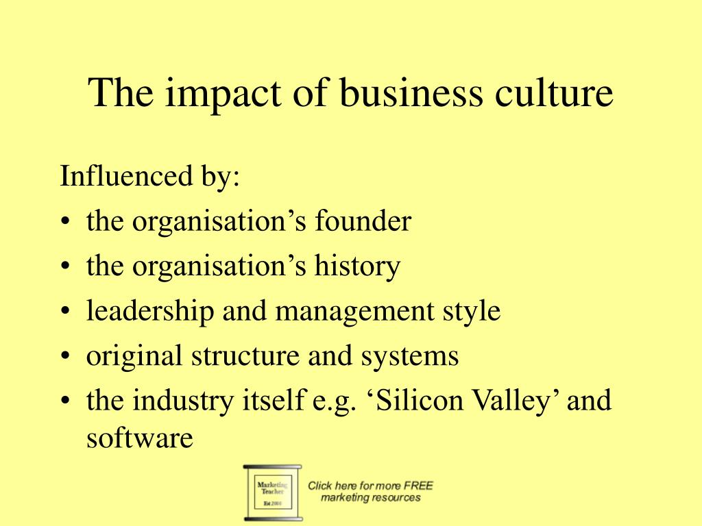 The impact of business culture