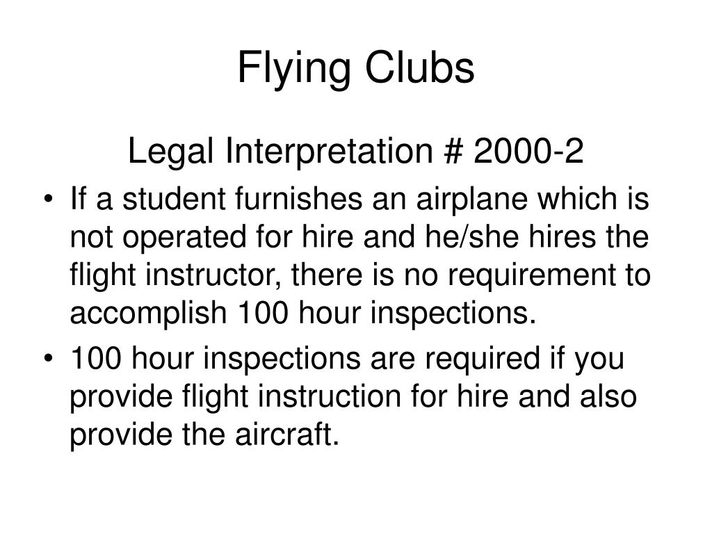 Flying Clubs