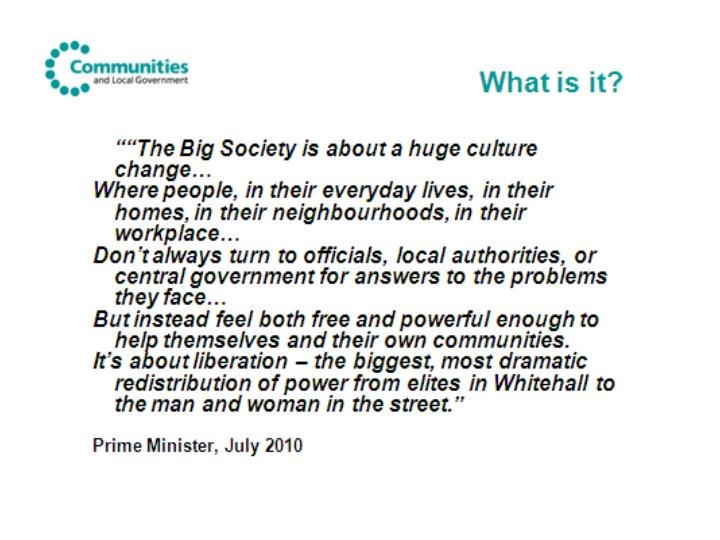 The big society building a stronger civil society