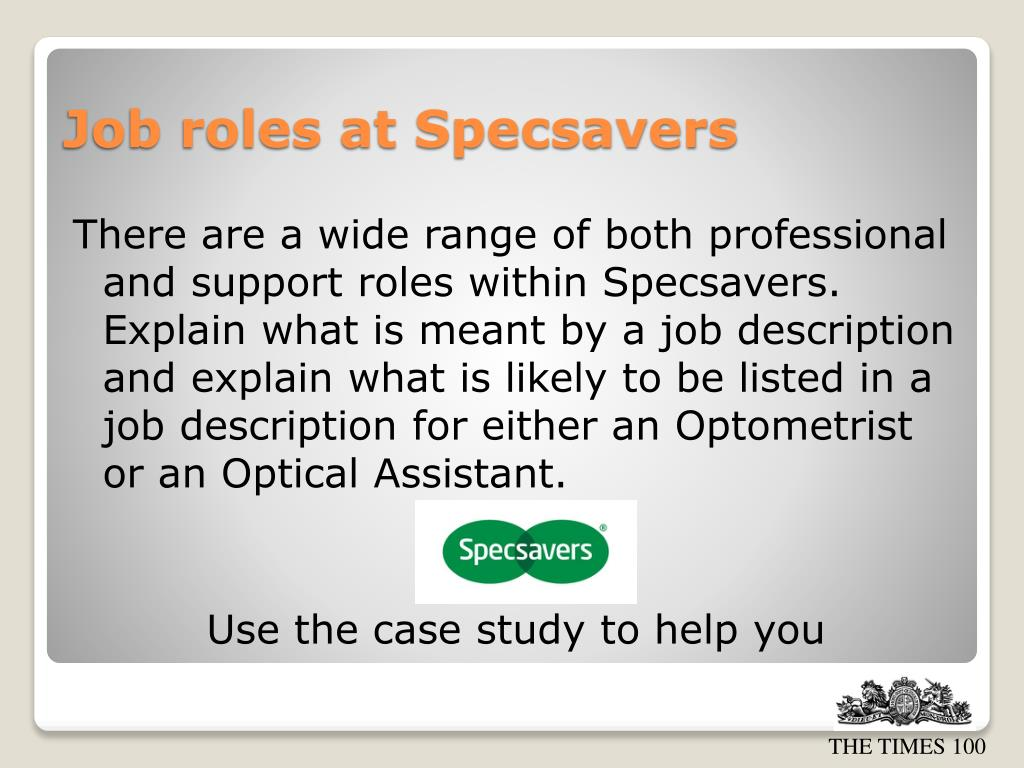 Job Description Of An Optician - Job description of an optician