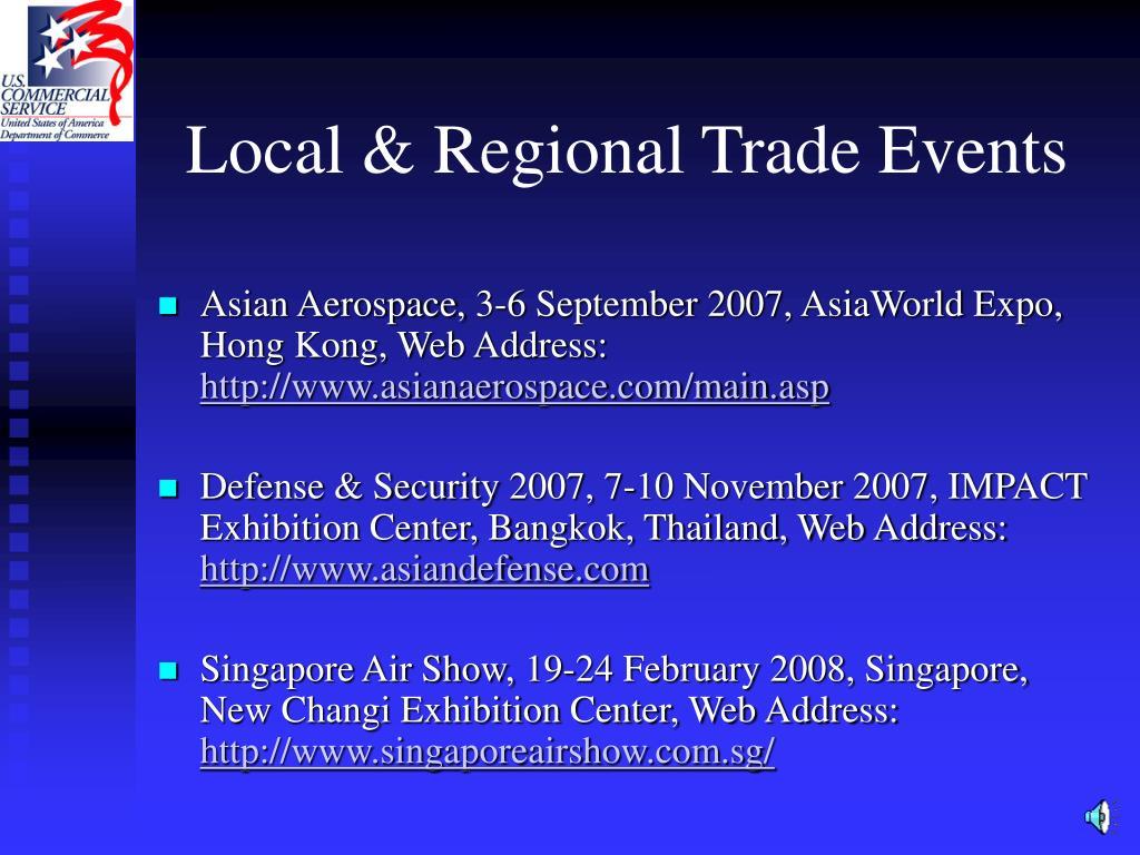 Local & Regional Trade Events