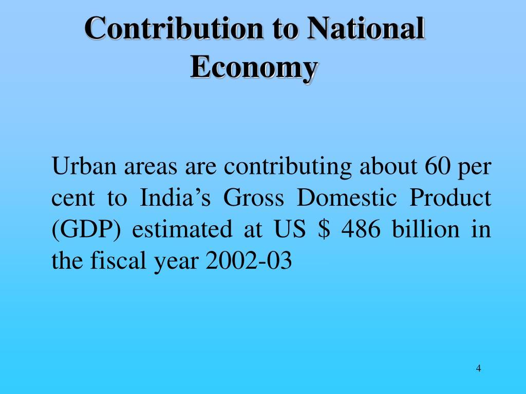 Contribution to National Economy