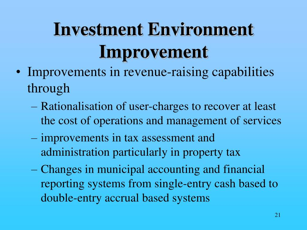 Investment Environment Improvement