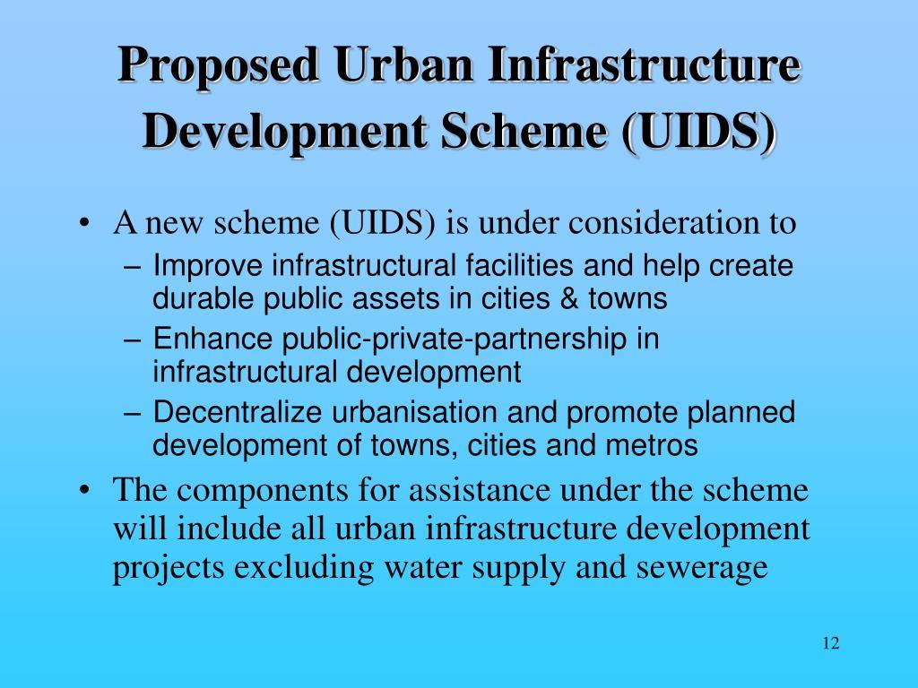 Proposed Urban Infrastructure Development Scheme (UIDS)