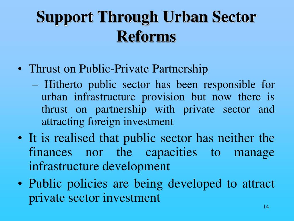 Support Through Urban Sector Reforms