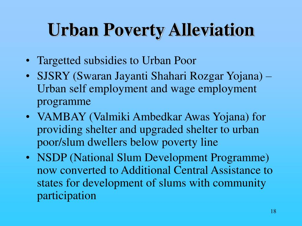 Urban Poverty Alleviation