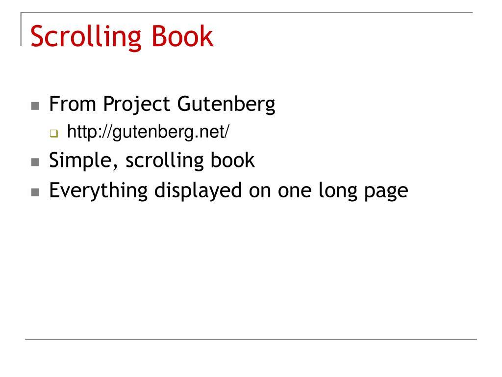 Scrolling Book
