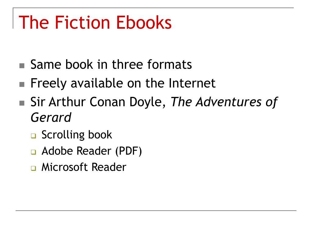 The Fiction Ebooks