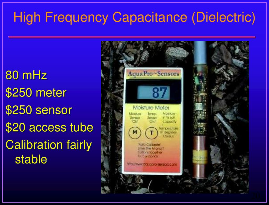 High Frequency Capacitance (Dielectric)