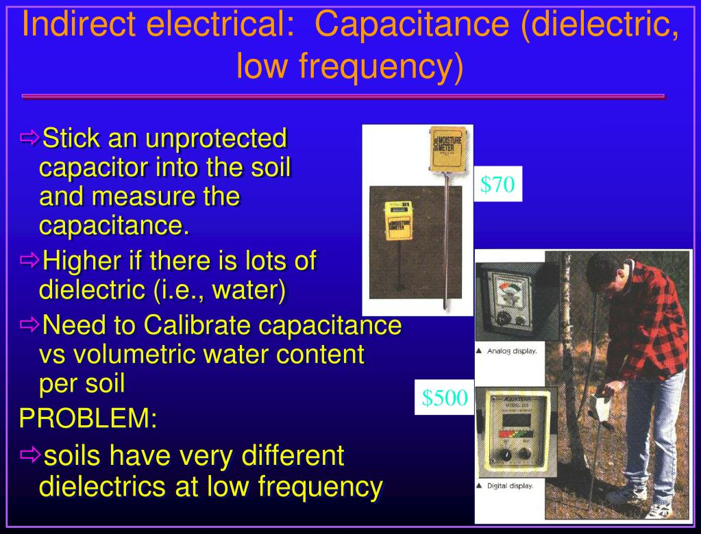 Indirect electrical:  Capacitance (dielectric, low frequency)